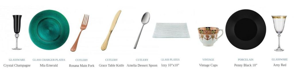 Funky, modern crockery and cutlery