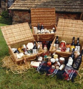 Wicker baskets filled with gourmet goodies, be it a gift to send around the world or just to Leeds, or filled with handmade goods to nibble at the cricket.